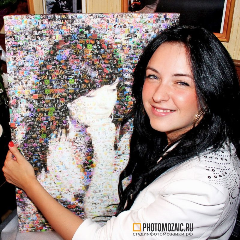 Фотомозаика в подарок девушке на день всех влюбленных